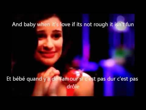 Traduction paroles poker face glee