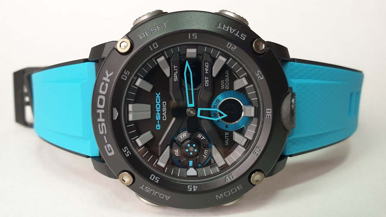 21976c080ec0b Переосмысленные G-Shock GA-2000 CARBONE CORE GUARD - YouTube