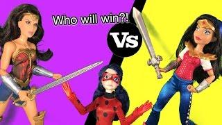 Wonder Woman vs Wonder Woman Miraculous Ladybug doll episode show Will Adrien be saved!?!