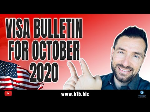 U.S IMMIGRATION UPDATE: Visa Bulletin For October 2020 And Predictions