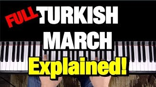 Mozart - March Turki (Rondo Alla Turca) Pelajaran Piano Tutorial (Lengkap)
