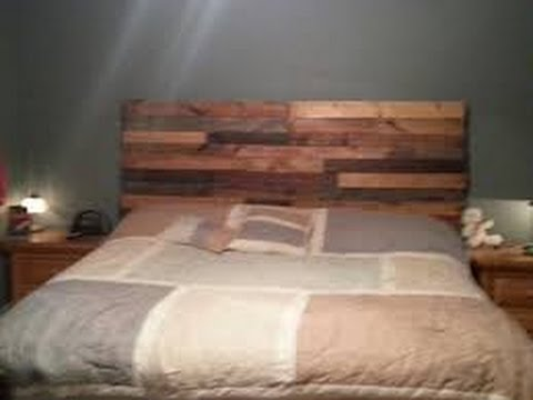 Diy pallet headboard 2016 how to make a pallet for How to make a queen headboard
