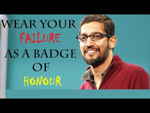 Wear Your Failure As A Badge Of Honour- Google CEO Sundar Pichai Motivational Videos For Students 👌