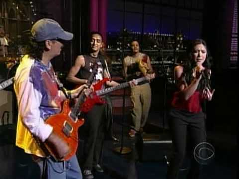 Santana & Michelle Branch-The Game Of Love (Live Letterman).Mpg