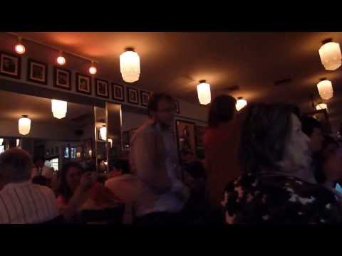 CUSTOMERS DANCING, LIVE GREEK MUSIC, AND DANCING WAITERS AT THE GREAT GREEK RESTAURANT!!!