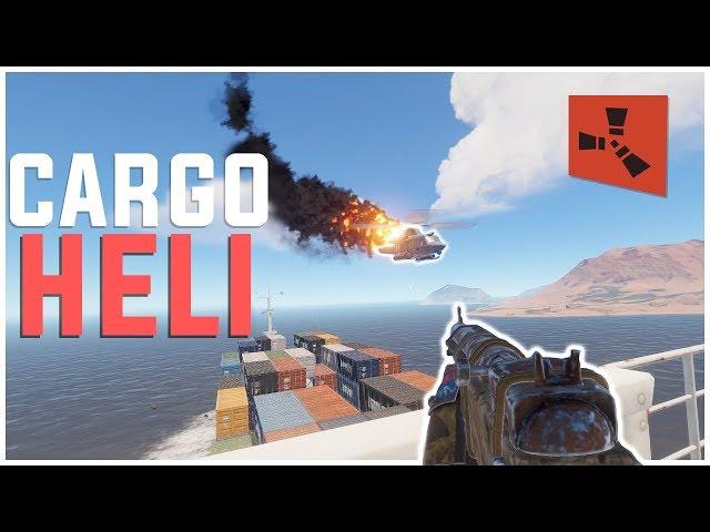 Rust - Taking Down HELI on the CARGO SHIP (Rust Raiding & PvP Highlights)