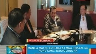 Manila Mayor Joseph Estrada at HK officials, nagpulong na kaugnay ng 2010 Manila Hostage Crisis