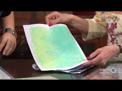 Mono Printing with Gel Press on the Creative Living Show