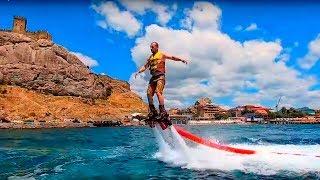 Лучший пляж Судака с лучшими развлечениями! Флайборд, Крым 2019