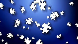 Floating Jigsaw Puzzle Pieces - Free Motion Background