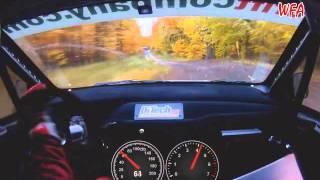 Insane Rally Car Dashcam! 200+ Through the Forest. Austria (WFA November 2012)