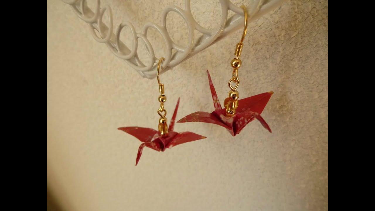Diy origami crane earrings youtube diy origami crane earrings jeuxipadfo Choice Image