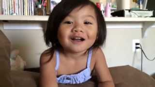 Cute toddler singing, For The First Time in Forever from Frozen