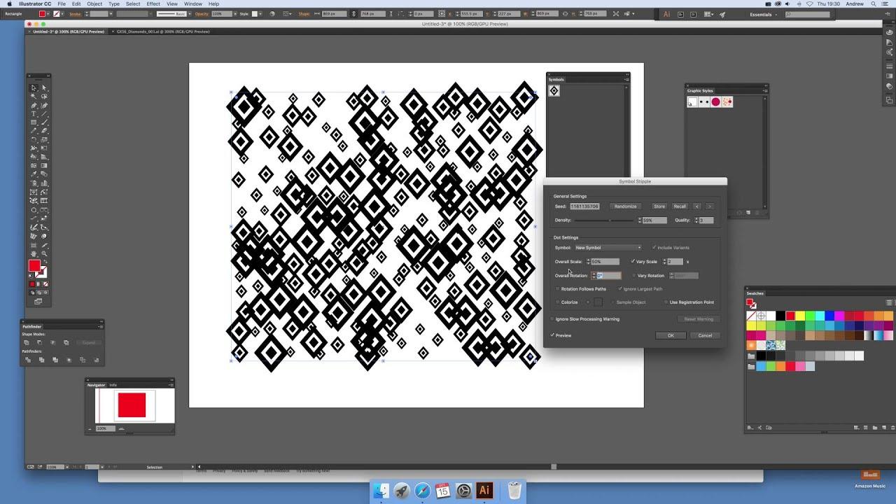 Illustrator and basic symbol stipple plugin (Intermediate) tutorial