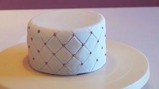 Cake Design : Tutoriel Effet Matelassé Pâte à Sucre