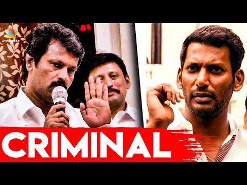 சூடு,சொரணையே இல்லையா : Cheran blasts Vishal at Producer Council Press Meet | Nadigar Sangam Election