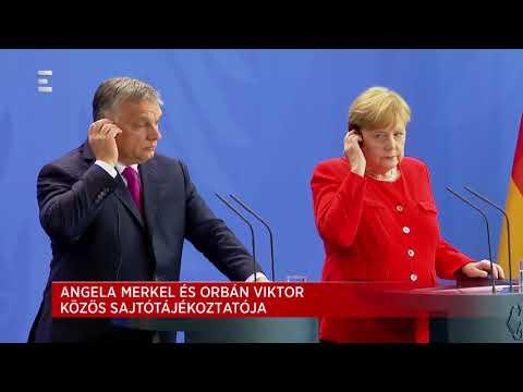 Angela Merkel és Orbán Viktor közös sajtótájékoztatója - ECHO TV
