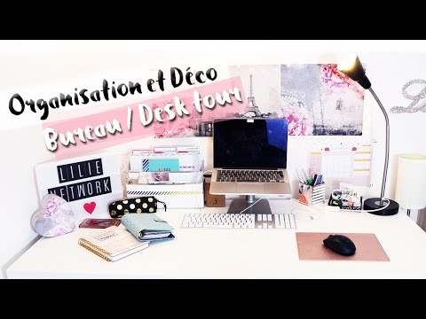 Organisation & décoration bureau • Rangement DIY | My desk tour