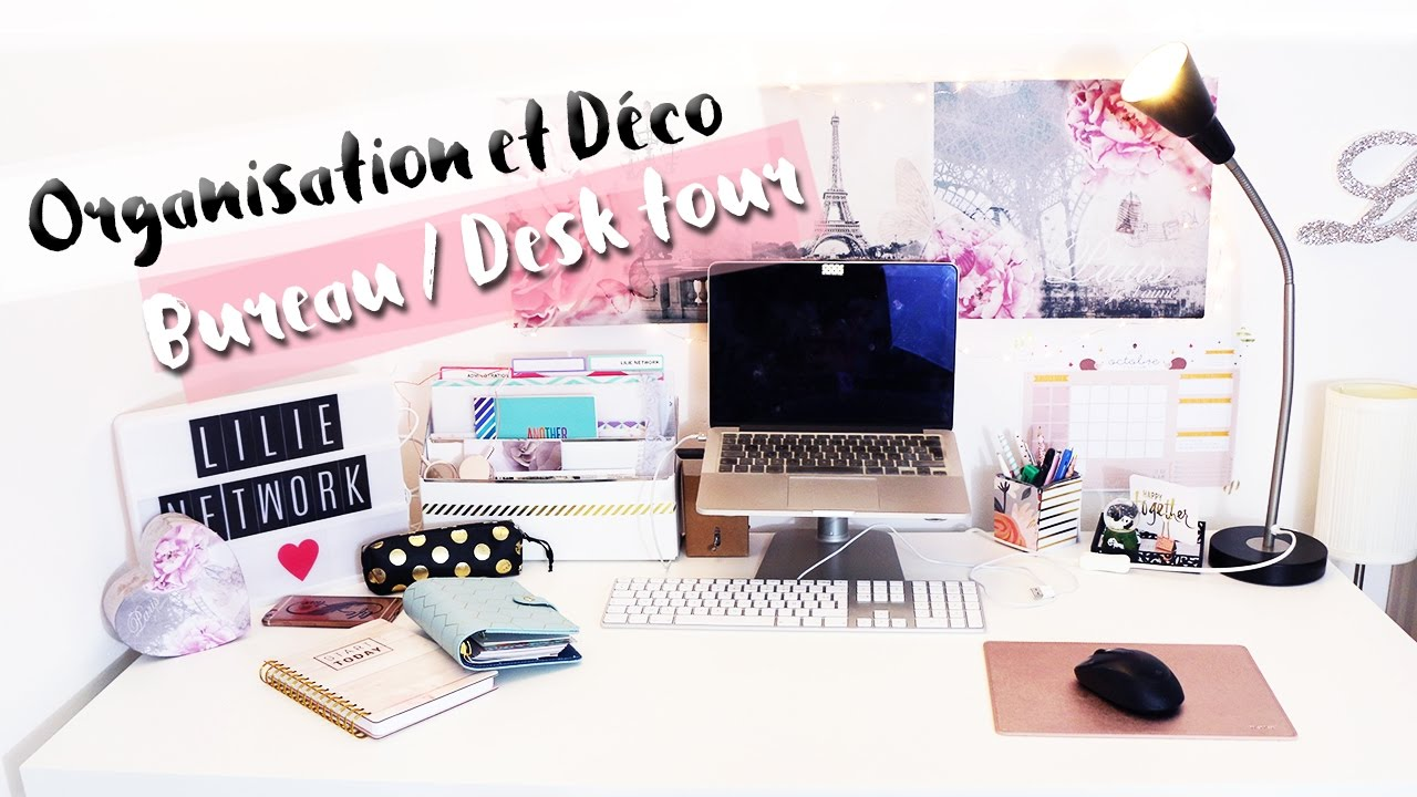 Organisation d coration bureau rangement diy my desk tour youtube - Organisation bureau de vote ...