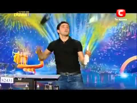 World's best Bartender on UKRAINE GOT TALENT!!!