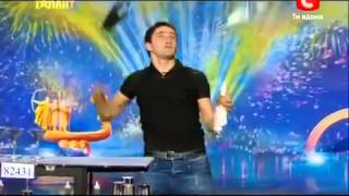 World's best Bartender on UKRAINE GOT TALENT!!!