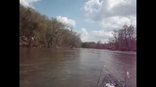 Haw River canoeing in an Old Town 119  April 2014