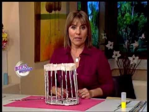 Silvina Buquete - Bienvenidas TV - Crea un bolso matero en cestería.