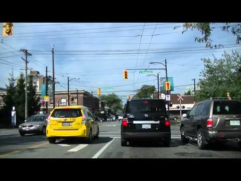 Driving to UBC 大学 by car (University of British Columbia) - Vancouver Neighbourhoods  - JAZZ BGM