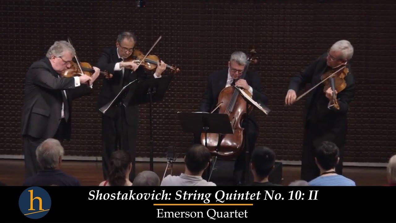 Heifetz 2016: Emerson String Quartet | Shostakovich: String Quartet No  10  - II  Allegretto Furioso