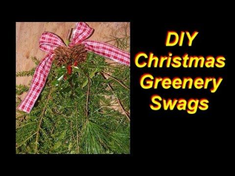 How to make a christmas greenery swag youtube how to make a christmas greenery swag solutioingenieria Choice Image