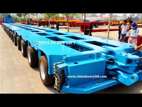 CHINA HEAVY LIFT 19 axle lines Modular Trailer ready for delivery
