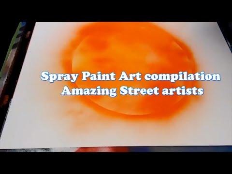 Spray Paint Art compilation  Amazing Street artists