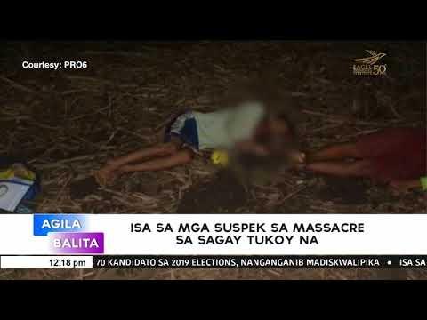 Isa sa mga suspek sa massacre sa Sagay tukoy na