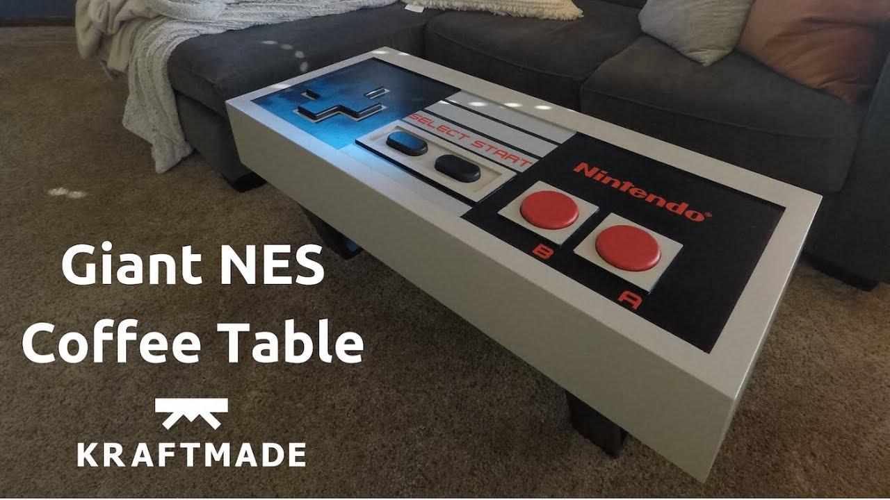 Controller Coffee Table.Giant Nes Controller Coffee Table Kraftmade