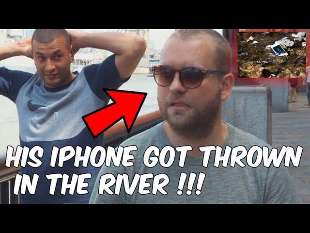 He THREW his iPhone in the RIVER (Magic goes wrong)