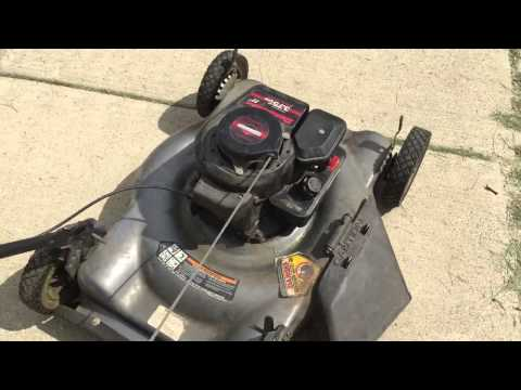 Briggs and Strattson Lawnmower Sputtering