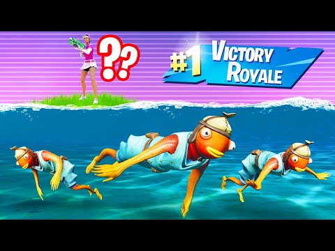 Winning WITHOUT Leaving The WATER In FORTNITE! (Playing As A FISH)