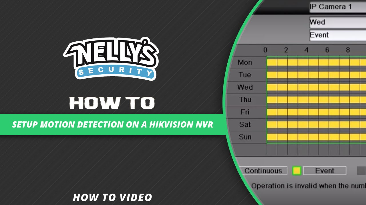 How to setup motion detection on a Hikvision NVR