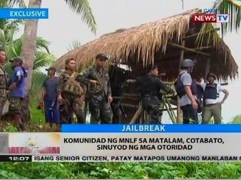 Komunidad ng MNLF sa Matalam, Cotabato, sinuyod ng mga otoridad