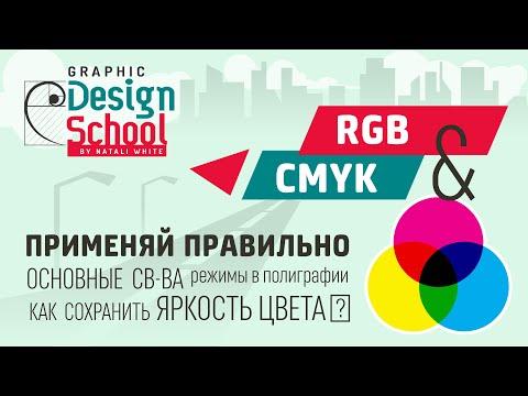 ГРАФИЧЕСКИЙ ДИЗАЙН. Видео урок: Цветовые модели CMYK и RGB