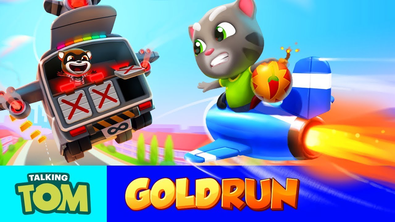 BOSS FIGHT in the Sky - Talking Tom Gold Run (NEW Game Update) - YouTube