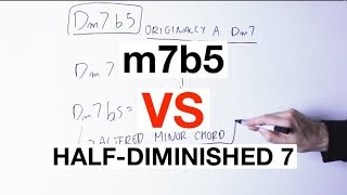 The Important DIFFERENCE Between m7b5 And Half-Diminished 7 Chords