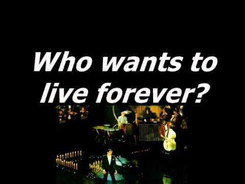 Queen - Who Wants To Live Forever - Karaoke