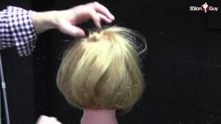 Haircuts for Women - Bob Haircut with Razor Demo  Subscribe: http://goo.gl/aWSkjE  In this video, I demonstrate how to achieve a graduated bob haircut for a woman with a razor. This is more of an advanced haircut, however I explain the best I could how to understand it and be more confident with razor cutting. Razor cutting is all about finesse and this haircut I demonstrate how to achieve that. I hope you enjoy it and I look forward to bringing you more haircutting videos. This video is great for short hairstyles, haircuts for women, women's haircuts, bob haircuts, razor haircutting and many other 2013 hairstyles and haircuts.  Follow me: http://www.twitter.com@TheSalonGuy http://www.facebook.com/thesalonguy http://www.thesalonguy.com