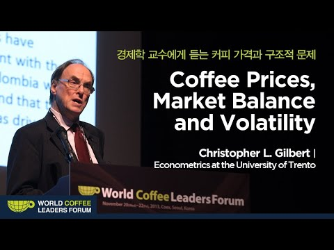 "[WCLF2013] Prof. Christopher L..Gilbert : ""Coffee Prices. Market Balance and Volatility"""