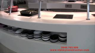 Solid Surface, Varity Top, Counter, Dresser, Cladding, Kitchen Cabinet Top, Table Top