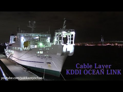 Night View - Cable Layer: KDDI OCEAN LINK (Kokusai Cable Ship, IMO: 9017070)
