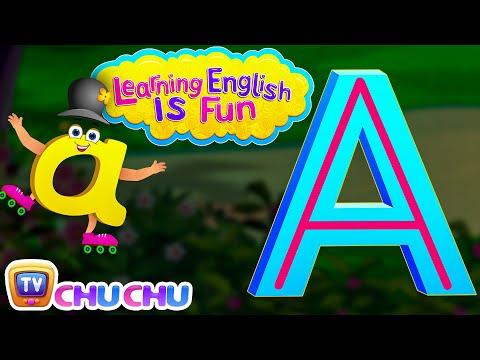 "Learning English Is Fun™ | Alphabet ""A"" | ChuChu TV Phonics & Words Learning For Preschool Children"