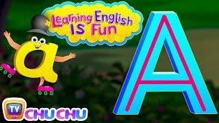 "learning english is fun™ alphabet ""a"" chuchu tv phonics words learning for preschool children"