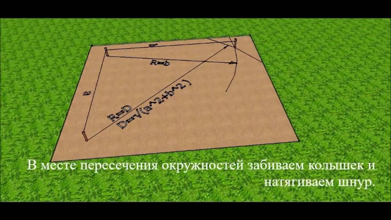 Как сделать разметку фундамента видео фото 914